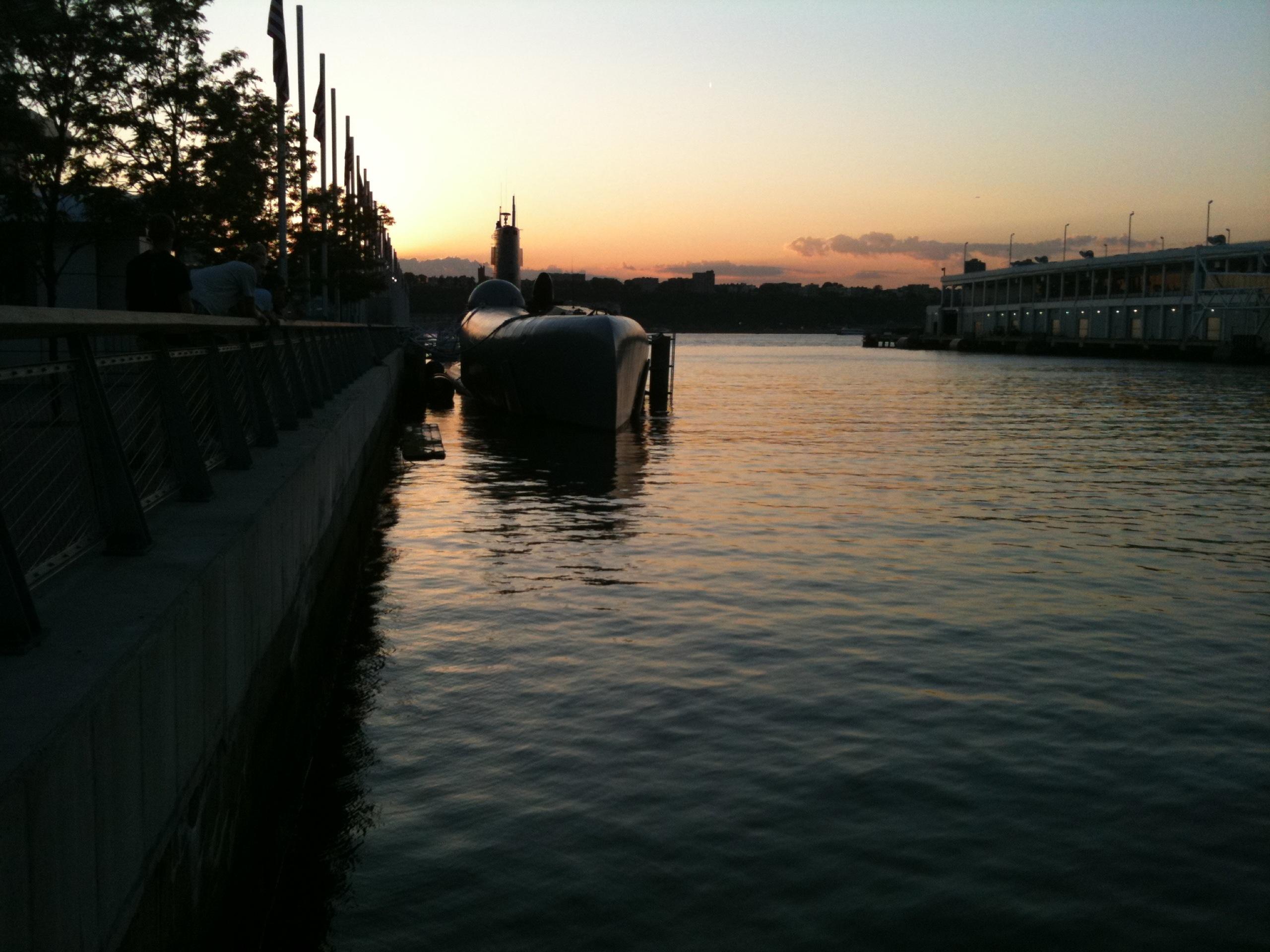 Sottomarino nella baia di New York