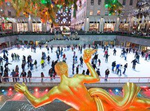 pattinare sul ghiaccio a new york